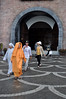 Leaving the park (Roving I) Tags: monks nuns robes religion buddhism beliefs entrances themeparks banahills brickwalls archways sunhats sandals attractions architecture danang vietnam vertical