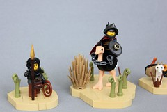 Deshiem Warriors (-LittleJohn) Tags: lego landscape desert medieval middle eastern ostrich knight squire warrior fig soldier goat sword shield cavalry