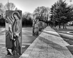 Via Crucis (attilio.pirino) Tags: viacrucis architecture perspective shadows architettura prospettiva ombre bw monochrome square piazza
