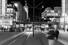< 9. ALEX PART II > (JungerNeuköllner) Tags: berlin alex part 2 people lzb lichtzieher shadows humansofberlin bvg tram rushhour darknes dark lightness lights weltzeituhr kino theatre cinestar 1365