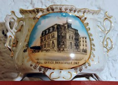 Belleville Post Office souvenir sugar bowl (Will S.) Tags: mypics glanmorehouse museum belleville ontario canada sugarbowl postoffice