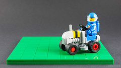 Not a ride on lawn-mower (billyburg) Tags: lego classic space benny movie moon lunar rover 6841 mineral detector ride on lawnmower bumblebee stripes febrovery