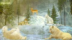 UN PAYSAGE DE RÊVES !POUR CES SUPERBES ANIMAUX ! (christabelle12300 (health troubles)) Tags: flickrheartgroup awesome contemporary art society specialeffects preferredgroup