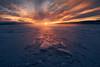 Cubes (lonekheir) Tags: lake norge norway winter ice snow sunset tyrifjorden pentax k1