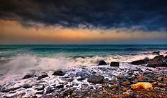 The winter sea (* landscape photographer *) Tags: roccaimperiale calabria italy seascape landscapephotographer sea sunset winter roccia onde tramonto colors colori nikon nikkor flickr 2017