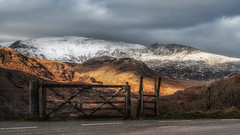 Gate to heaven (Einir Wyn) Tags: landscape mountains me neige holiday scenery snowdonia wales spendid view gate snow winter outdoor vacation rural sky grey colour color clouds beautiful blue bleak weather cymru love passion nationalpark uk britain