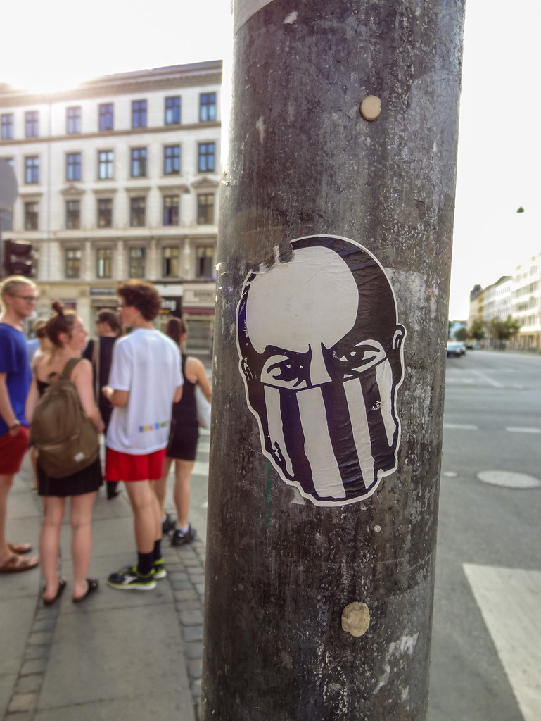 Sticker on a pole in copenhagen denmark thorrisig tags 382014 dagur haffi