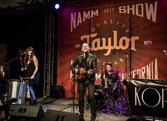 Korbee 01/20/2017 #3 (jus10h) Tags: jennkorbee korbee tomkorbee band taylor guitar guitars showroom room booth anaheim orangecounty convention center namm nammshow show live music concert showcase event performance winter 2017 nikon d610 photography justinhiguchi