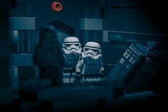 darkness of the illusion (another version) (jooka5000) Tags: lego anotherversion cinematic stormtroopers starwars deathstar storytelling scene continuation series classic policebox drwho stranger tardis easteregg