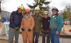 Arborists group shot (Montgomery Parks, MNCPPC) Tags: treeclimbing woodsidepark january2017 2017