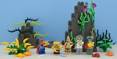LEGO SpongeBob SquarePants 🍔🌾 (Alex THELEGOFAN) Tags: lego legography minifigures minifigure minifig minifigs minifigurine minifigurines movie tv show spongebob bob sponge squarepants square pants rock plant plants seashell sand squirrel sandy cheeks patrick star mr krabs squidward plankton seaweed medusa lobster crab hamburger