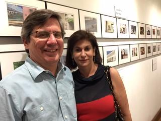 Miami Herald journalist Andres Viglucci with Gita Shamdasani at Books&Books for Coral Gables Gallery night