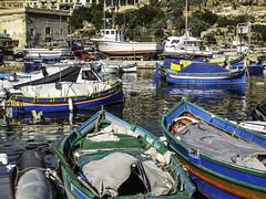 Mgarr Color coordination (Tony Tomlin) Tags: mgarr malta gozo boats yachts