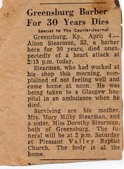Alton Stearman Obituary (HaleyDoIt) Tags: kentucky old photos oldpictures greensburg country milby family familyphotos oldfamilyphotos stearman
