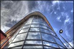 La torre (celestino2011) Tags: torre riflessi blu nuvole cielo torrepellice architettura tokina1224