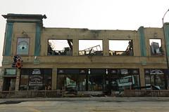 Lincoln Square Lanes (BradPerkins) Tags: bowlingalley bricks building chicago city cleanup damage demolished destroyed destruction fire lincolnsquare lincolnsquarelanes metal urban urbanexploration urbanlandscape