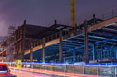 25x (pbo31) Tags: sanfrancisco california city summer urban motion color hospital dark campus evening construction nikon traffic steel august frame californiapacificmedicalcenter cathedralhill 2015 lightstream vannessavenue boury gearyboulevard pbo31 d810