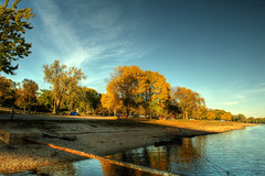 Autumn Afternoon along the shore of the Illinois (kendoman26) Tags: autumn hdr goldenhour illinoisriver photomatix sonyalpha sigma1850f2845 sonya57 sonyslta57