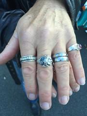 Hardelot.. Rassemblement de Harley.. (fourmi_7) Tags: pierre bijoux mains indien homme motard anneau hardelot bagues rassemblement