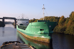 'Arklow Ruler' Irlam locks 15th October 2015 (John Eyres) Tags: park up metal for canal wharf locks heading scrap ruler loading ballast arklow arriving irwell manchestershipcanal irlam emr 151015
