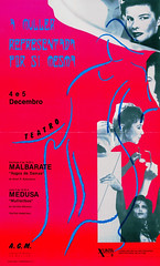 A muller representada por s mesma (Contenedor de feminismos) Tags: teatro 1988 santiagodecompostela medusa maika agm novoa cartel espectculos representaciones uqui doroteabrcena permui malbarate