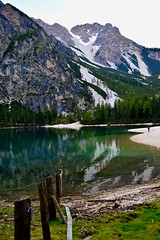- (erikarizz8) Tags: blue light italy mountain lake green colors tyrol braies sud torquoise