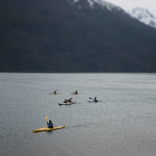 #tiltshift #lake #kayak #mountains