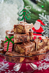 Christmas Chocolate Fudge Slices (dolphy_tv) Tags: santa snowflake christmas xmas eve food holiday cooking coffee cake dark festive square table dessert cuisine stand milk cookie candy dish sweet chocolate chewy rustic rich walnut fudge stack biscuit homemade american gift slice pile meal cube present peanut vanilla treat nut piece cocoa raisin confectionery creamy chocolatefudge condensedmilk sultana