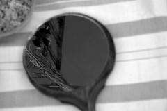 lucky charms reflection (Ina Apla) Tags: blackandwhite bw reflection monochrome mirror nikon monotone luckycharms