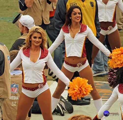 Reskinette Cheerleaders Kirsten and Stephanie H.