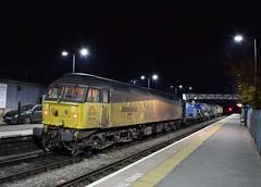 47739 at Ledbury. 20/10/15 (Nick Wilcock) Tags: railways freight worcester ledbury kingsnorton colas 477 class47 rhtt colasrail 47739 robinoftemplecombe colasrailfreight 3s31