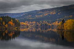 No. 1021 Randsfjorden (H-L-Andersen) Tags: trees mountain lake mountains reflection fall water colors norway clouds forest reflections landscape automn fjord scandinavia 6d randsfjorden ef24105mmf4 canoneos6d hlandersen