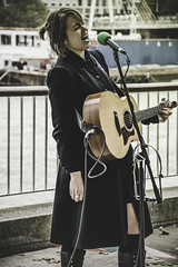 London Busker (DHCobbler) Tags: london singing guitar southbank singer busker emilylee