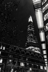 The Shard - Nikon 1 J5 10mm (Cjlws) Tags: city london lines architecture night lens prime lights nikon 28 morelondon j5 10mm nikon1 theshard 1nikkor10mmf28