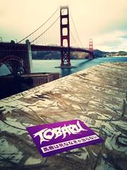 TOBARU - FLOWERS IN YOUR HAIR. (juan_tobaru) Tags: sanfrancisco california street bridge sexy art love up punk grafitti purple fuck sweet stickers shit thrash taggers tagging slaps tobaru