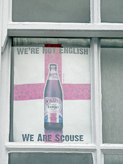 Scouse Pride (Antropoturista) Tags: uk red window beer liverpool bottle cains semiotics scouser