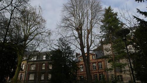Rouen - Le square Verdrel fin décembre