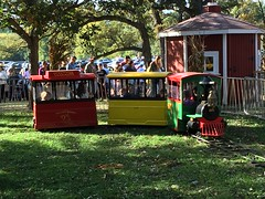 """Paul and Inde Ride a Train at Sonny Acres • <a style=""""font-size:0.8em;"""" href=""""http://www.flickr.com/photos/109120354@N07/22928865190/"""" target=""""_blank"""">View on Flickr</a>"""
