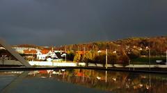 After the rain (blondinrikard) Tags: november autumn sky reflection window sunshine göteborg rainbow sunny höst reflektion darksky outthewindow fönster