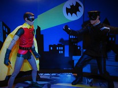 """Holy Crossover!"" The Boy Wonder meets The Valet Of Death! (Toyz in the attic) Tags: robin 1966 batman brucelee mattel kato jaychou burtward thegreenhornet"