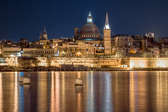"Golden city 1 (Tony Sammut) Tags: longexposure church canon wow lights golden flickr colours tripod malta blueskys valletta autofocus capitalcity carmelite bulbmode finegold canonef24105mmf4lisusm frameit beautifulcapture vivalavida canoniani simplysuperb canoneos550d blinkagain ""flickrtravelaward"" flickrclickx wowl2 wowl3"