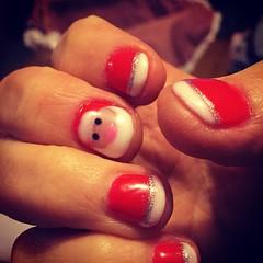 Prête pour les fêtes / ready for Christmas (karine_avec_1_k) Tags: christmas happy vacances holidays nails santaclaus noël pèrenoël ongles