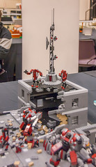 Battle of New Cairo (SEdmison) Tags: lego battle convention mecha mechs 2015 newcairo brickcon brickcon2015