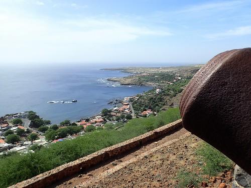 Kim's View from Fortaleza Real de Sao Filipe in Cidade Velha near Praia, Cabo Verde