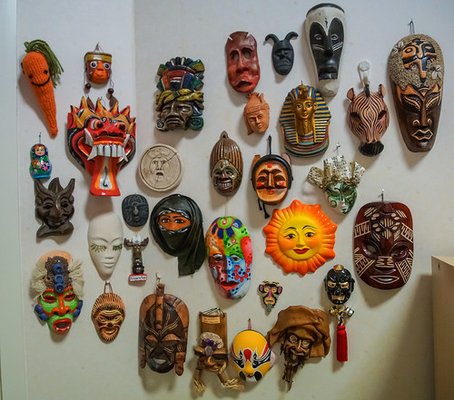 Mask collection from our travels