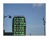 XXIe siècle (hélène chantemerle) Tags: architecture bâtiments extérieur façades mobilierurbain photosderue urbain ciel lampadaires vert bleu building street outside lamps sky green blue