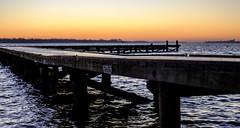 Untitled (Wouter de Bruijn) Tags: fujifilm xt1 fujinonxf35mmf14r sunrise dawn morning landscape nature pier jetty lake water waves outdoor veersemeer