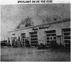 DeVoe's Esso Service station on Route 18, 1964 (Ereiss1) Tags: vintage eastbrunswick nj