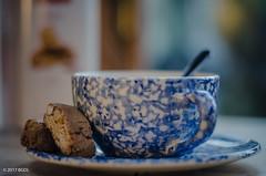14 ~ 365 ...... Time For a Coffee! (BGDL) Tags: lightroomcc nikond7000 bgdl high5~365 niftyfifty afsnikkor50mm118g kitchen coffeecupandsaucer spoon biscotti foodanddrink saturdaytheme flickrlounge