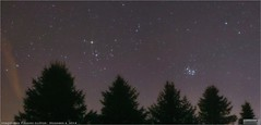 Hyades and Pleiades Star Clusters Setting in the West (Tom Wildoner) Tags: tomwildoner leisurelyscientistcom leisurelyscientist pleiades pleiadesstarcluster hyades opencluster open cluster m45 trees silhouette astronomy astrophotography astronomer december 2016 nature outdoor stars western canon canon6d tripod tiffen filter weatherly pennsylvania skies pines panorama